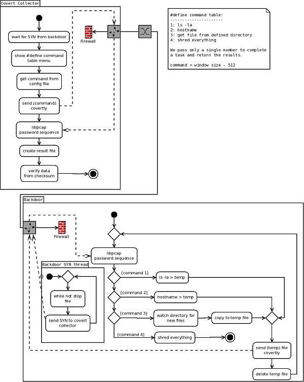 Covert Backdoor Network Diagram